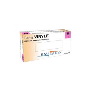 gants Vinyle poudrés